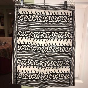 Tory Burch black and white skirt